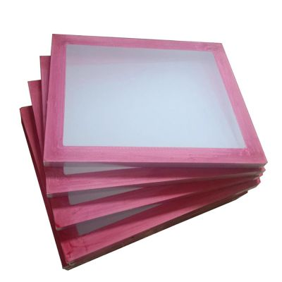 """23/"""" x 31/"""" Aluminum Frame Printing Screens with 230 Yellow Mesh Count 6 Pack"""
